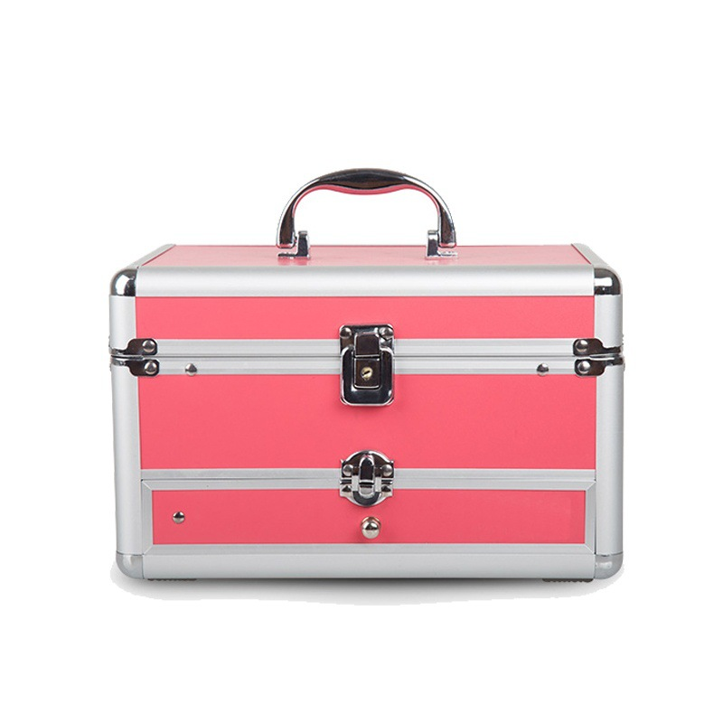 Women's Large capacity make-up box women nail beauty makeup box Type PVC suitcase cosmetic box womens eberhart ebh386 l