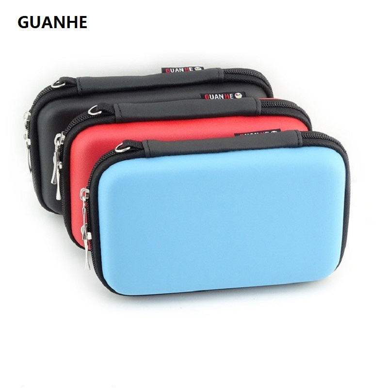 GUANHE Hard Drive Protector Bag & Cases USB Cable Organizer estuche para disco duro externo HDD Enclosure Power Bank case For WD