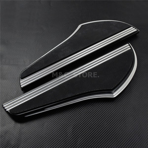 Image 3 - Front Driver Foot Pegs Floorboard For Harley Touring Road King Tri Street Glide FLHR FLHX 2000 2019 Softail Heritage Fat boy