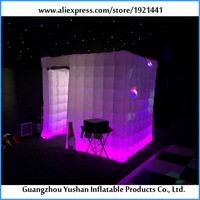7.8ft cube Led light inflatable photo booth best quality photo booth frames