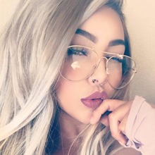 2017 Aviation Alloy Metal Frame Sunglasses Classic Optics Eyeglasses Transparent Clear Lens Women Men Eye glasses Optical