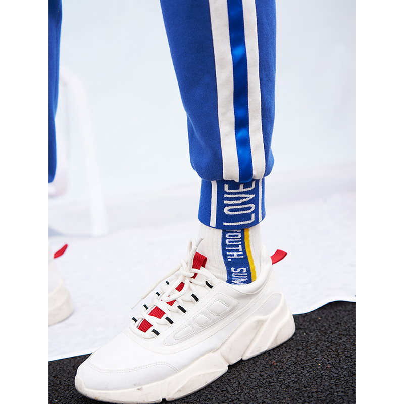 Image 2 - Toyouth Long Sport Leisure Pants New Arrival 2019 Women Bottoms Double Striped Jogger Harem Pants Sweatpants Sportswear Trousers-in Pants & Capris from Women's Clothing