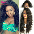 Long Curly Synthetic Lace Front Wigs For Black Woman Cheap Synthetic Lace Front Wig With Baby Hair Heat Resistant Synthetic Wig