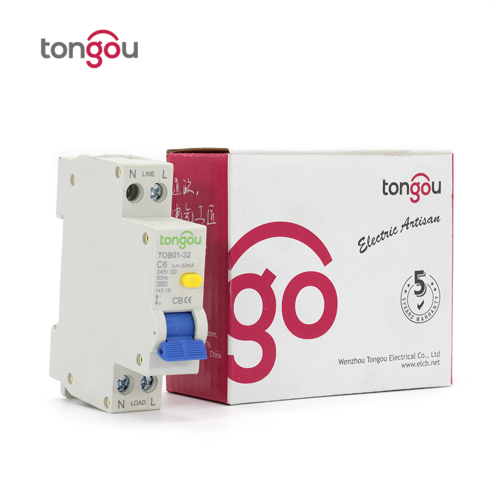 18mm RCBO ELCB 6A 30ma 1P+N Residual Current Circuit breaker with over current and Leakage protection 18mm rcbo 32a 1p n residual current circuit breaker with over current and leakage protection 30ma