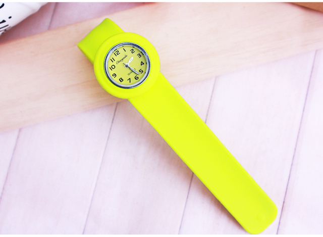 free shipping High Quality silicone slap watch, kids slap watch children watches opp bag packaging