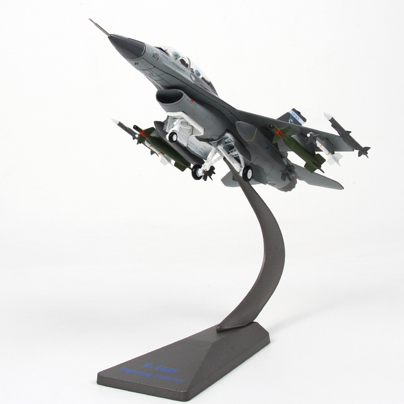 YJ 1/72 Scale Airplane Model Toys USA F-16 Fighting Falcon Fighter Diecast Metal Plane Model Toy For Gift/Collection pre sale phoenix 11216 air france f gsqi jonone 1 400 b777 300er commercial jetliners plane model hobby