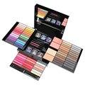 O Envio gratuito de 85 Color PRO Maquiagem Conjunto Paleta de sombras Blush Lip Gloss Glitter Em Pó Corretivo Lápis de Olho + Escova