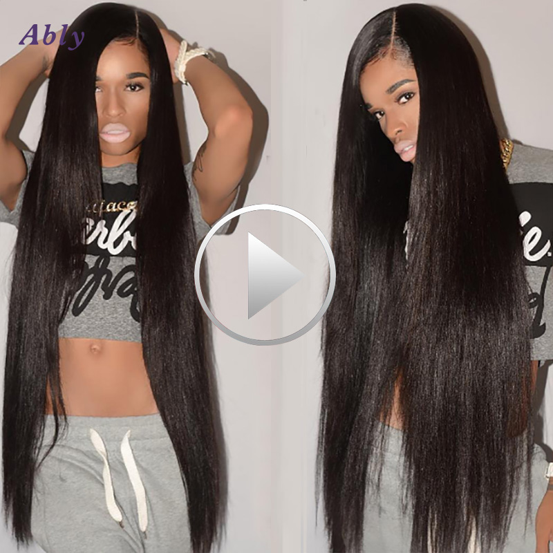 Ear To Ear Lace Frontal Closure With Bundles 3 Pcs Brazilian Straight Hair With Clsoure Pre Plucked Lace Frontal With Bundles