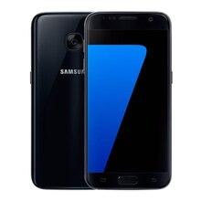 شاشة مستقيمة أصلية غير مقفلة من سامسونج جالاكسي S7 SmartphoneG930V/G930A/G930F شاشة 5.1 بوصة 32 جيجابايت ROM رباعية النواة 4G LTE بصمة إصبع
