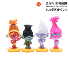 4pcs lot PVC ANIME Movie 7cm DREAMWORKS new Movie Trolls Action Figures Poppy and Branch Toys