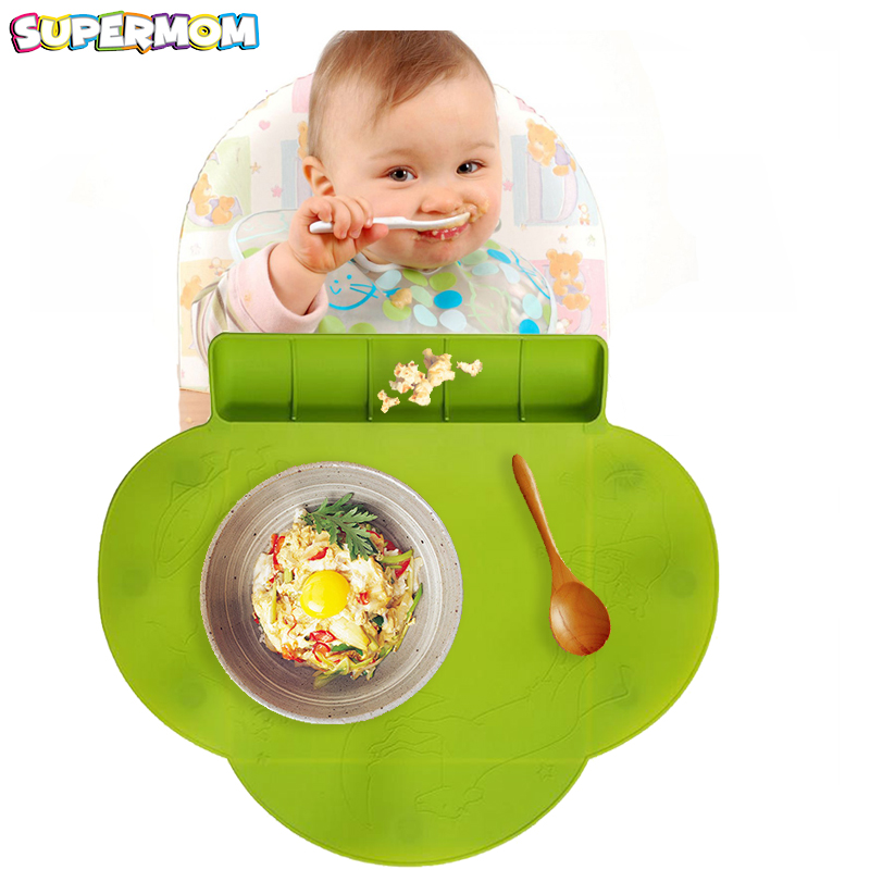 Silicone Baby Suction Plate Mat Anti-slip Waterproof Placemat Foldable Food Fruit Snack Mat Child Infant Dinner Plate Tableware