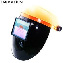 купить Stepless adjust Solar Auto darkening TIG MIG MAG MMA welding helmet/face mask/Electric welding mask/welder cap онлайн