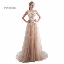 Ruthshen Vestidos De Gala Largos Mouwloze Prom Dresses Lange Floor Lengte Partij Jassen Elegant Robes De Soiree Formele Prom Jurk