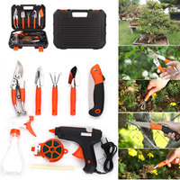 Stainless Steel Silver Gardening Toolbox Garden Tool Set Multifunctiona Kit Portable Practical Durable Potted Plants 9pcs