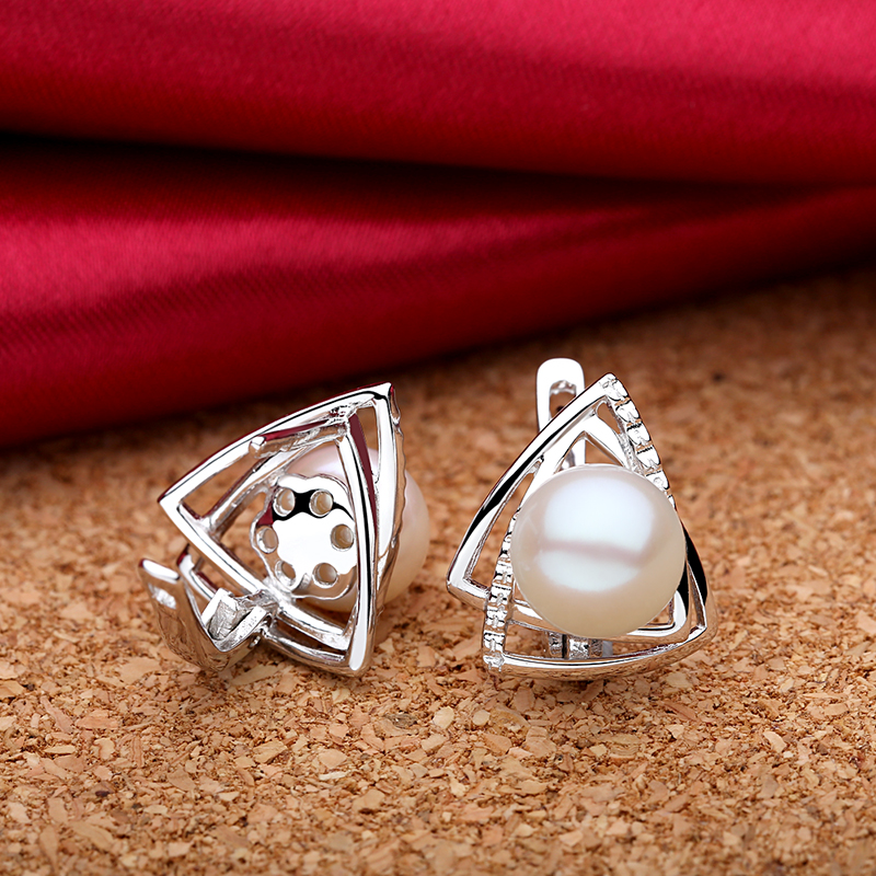 Sinya 925 sterling silver Earrings mutiara Air Tawar alami perhiasan - Perhiasan bagus - Foto 5