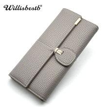 New Womens Wallet Design Leather Wallets Women Brand Wallet Long Hasp Female Purse Card Holder Clutch Feminina Carteira