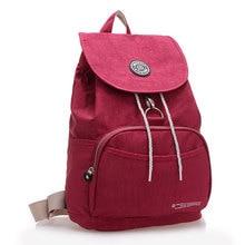 Jinqiaoer женщины рюкзак Водонепроницаемый нейлон 10 Цвета леди женские рюкзаки женский Повседневная сумка сумки Mochila