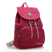 Для женщин рюкзак на шнурке Водонепроницаемый нейлон 10 Цвета леди Для женщин Рюкзаки женский Повседневное дорожная сумка Сумки Mochila