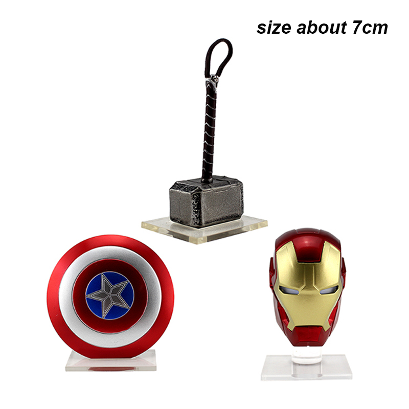 Avengers Iron Man helmet Thor hammer Captain America shield Weapons Accessories