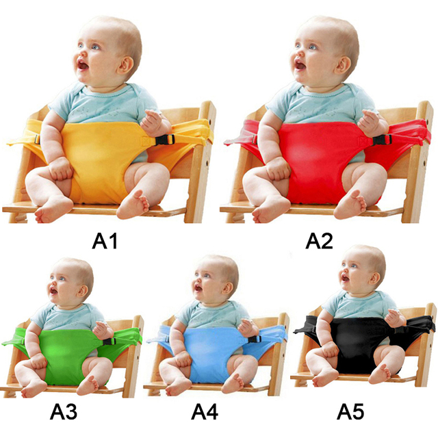 Polyester Baby Chair Booster Safety Seat Strap Harness Dining Seat Belt Portable  Harness Dining Seat Belt