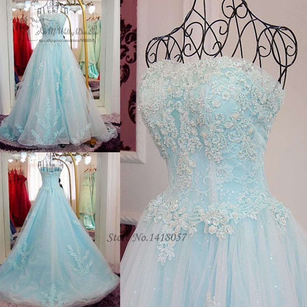Vestidos De 15 Anos Princesa Cheap Light Blue Quinceanera