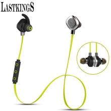 Lastkings auricular bluetooth inalámbrico de auriculares auriculares micrófono para teléfono estéreo deporte magnética a prueba de agua