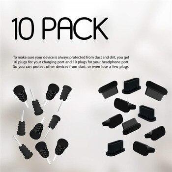 Anti Dust Plugs USB C Charging holes 3.5mm Headphone Jacks Silicone Type C Port Protection Dust Plug For Samsung S9 S8 Huawe 1