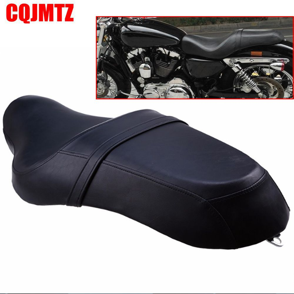 Motorcycle Saddle Seats Cushion Front Driver Rear Passenger Seat Leather PU Two Up For Harley Davidson Sportster XL 883 1200 mtsooning timing cover and 1 derby cover for harley davidson xlh 883 sportster 1986 2004 xl 883 sportster custom 1998 2008 883l