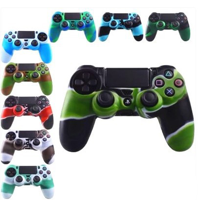 For SONY PlayStation 4 PS4 Controller PS4 Slim Pro Camouflage Soft Silicone Guards Skin Cover Case Protective Shell surface