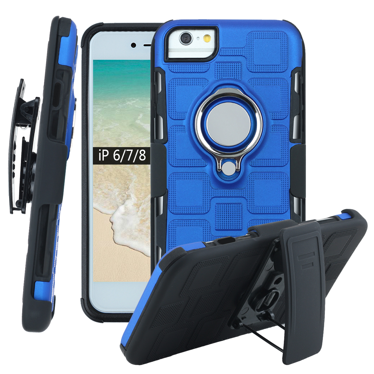 Belt Clip Holster Case For iPhone 6 6s 7 8 Plus Magnetic Car Mount for Men Shockproof Armor Cover iphone 6+ 7+ Stand Phone Case