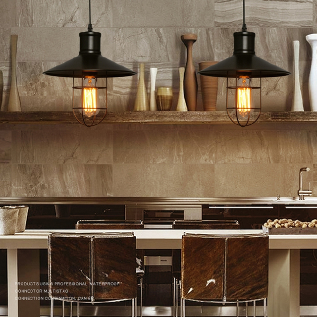 Dining Room Retro Pendant Lamps Edison Bulb Hanging