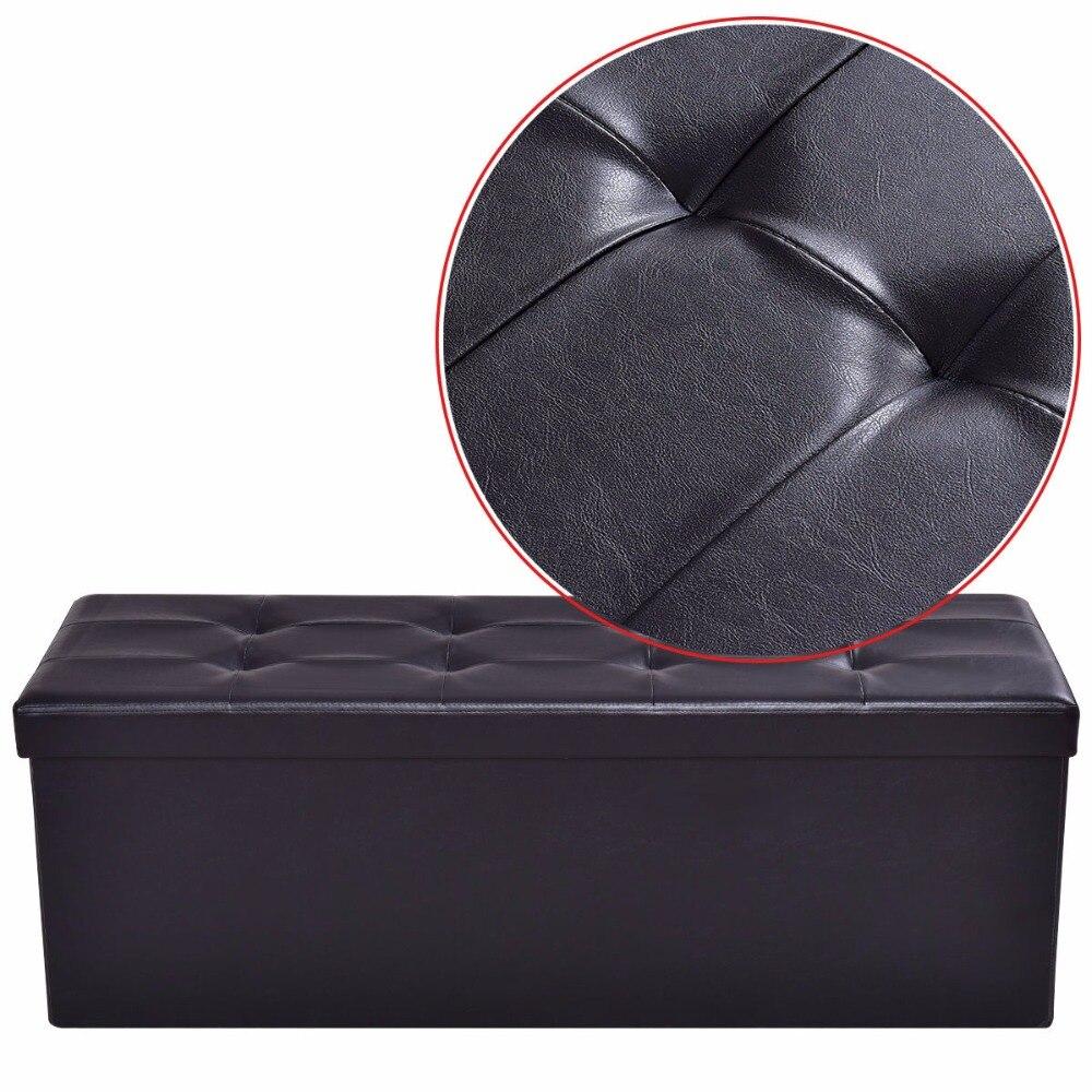 Surprising Giantex 43X15X15 Large Folding Storage Pu Leather Ottoman Inzonedesignstudio Interior Chair Design Inzonedesignstudiocom