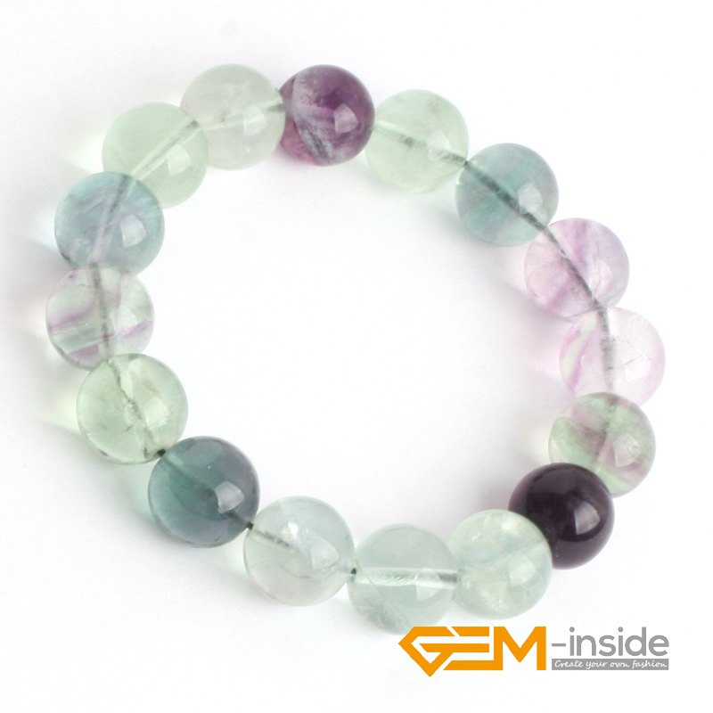 Fluorite Stone Beads Bracelet :6mm To 14mm Natural Stone Bracelet DIY Jewelry Bracelet Guardian Stone For Aquarius Free Shipping luminous pearl bracelet stone bracelet rare stone bracelet