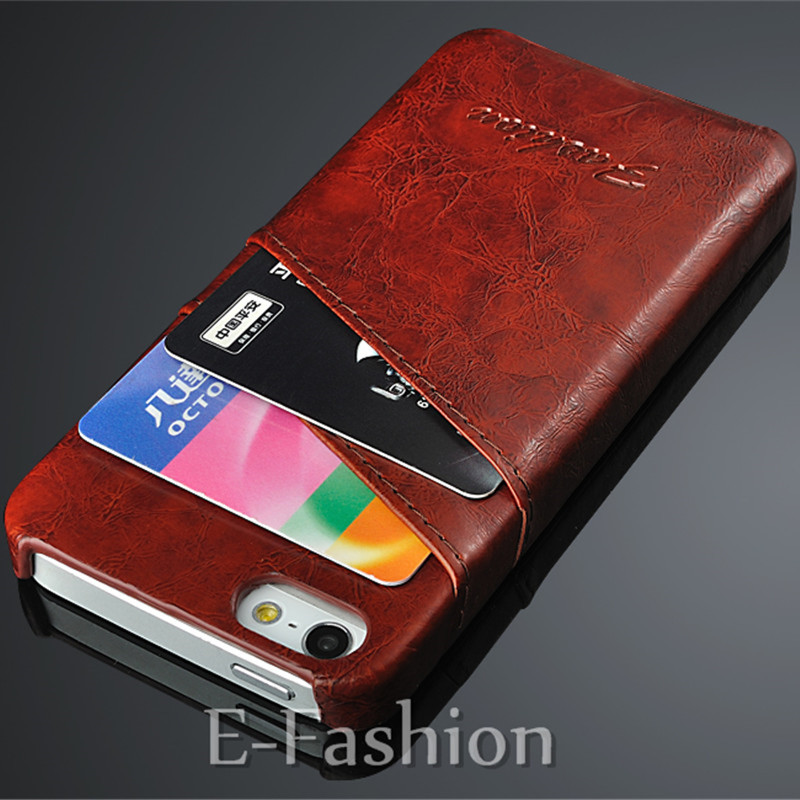 Slim PU Leather Cell Phone Case For Apple iPhone 5 5S SE Credit Card Holder Stand Wallet Protective Back Cover For iPhone 5 5G
