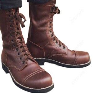Image 4 - WW2 米軍 82 101 空挺落下傘兵のブーツの靴革高品質米国/503312
