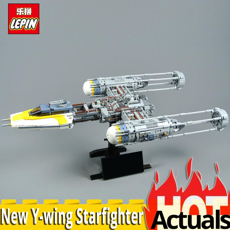 NEW Lepin 05143 Star Series Wars The New Y wing Starfighter Model 2203Pcs Building Blocks Bricks Toys For Kids LEGOS75181 Gifts lepines star space wars b wing starfighter building blocks sets bricks figures kids model kids toys