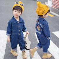 Baby girls clothes toddler denim Rompers 2019 spring autumn new fashion cotton jumpsuit kids rompers children overalls ws334