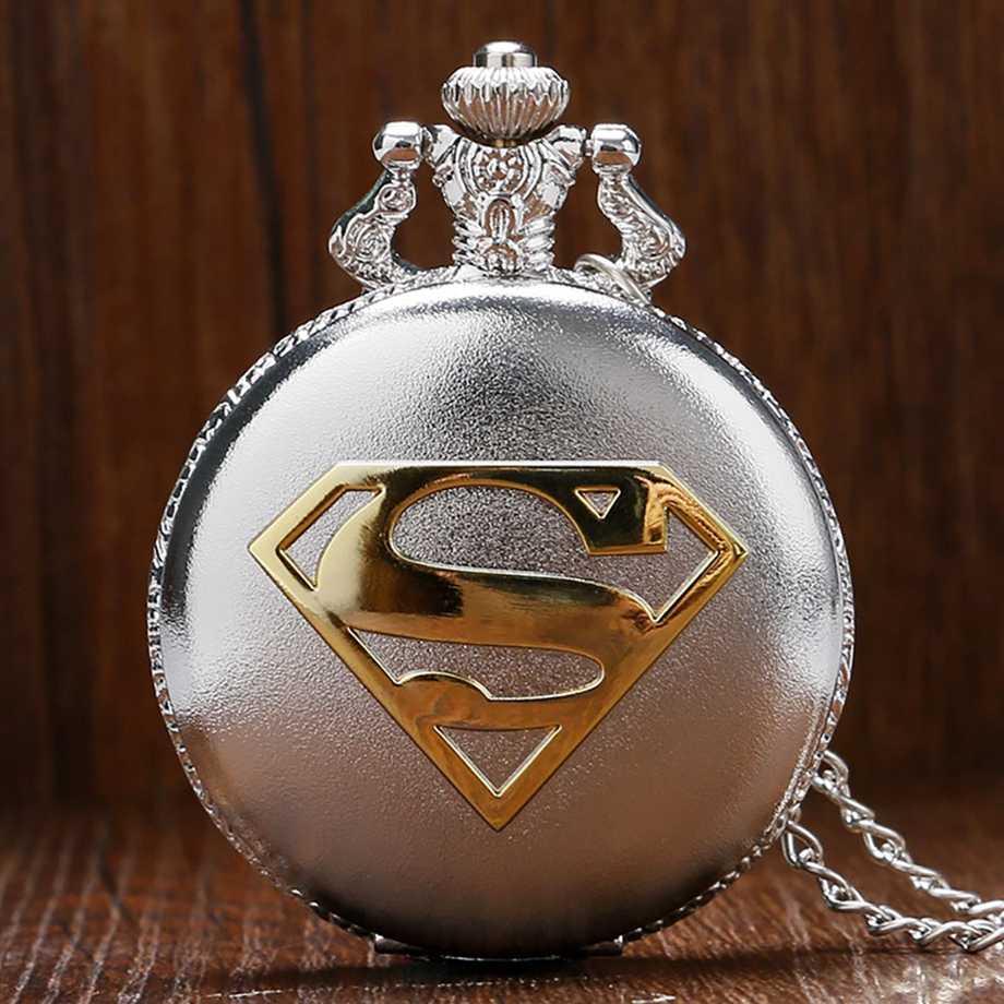 חם סופר גיבור כיס שעון 3D ברזל איש פיסול תליון שרשרת אופנתי בני נוער שעון מיוחד גברים נשים אוהדי מתנות Reloj saat