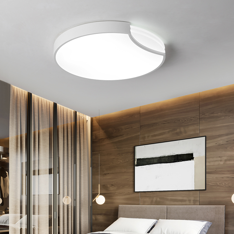 LED Ceiling lights bedroom Round lighting modern Acrylic luminaires Nordic living room ceiling lamps children's room fixtures-in Ceiling Lights from Lights & Lighting    3