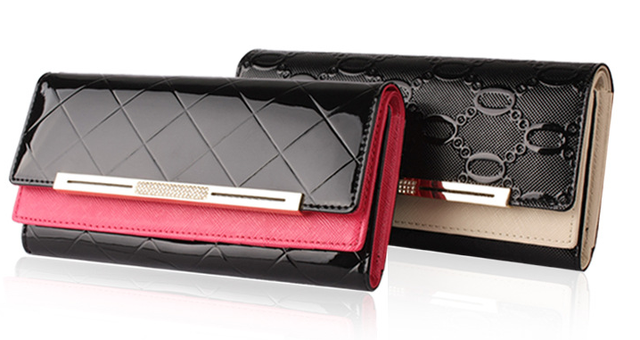 Fashion women's leather wallet  diamond diamond wallets  women's wallet  New Version