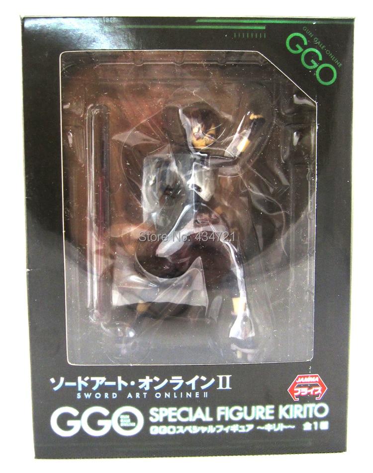 New Hot Game Anime Sword Art Online 2 II Kirigaya Kazuto Kirito GGO Special 6 Action Figure Toys