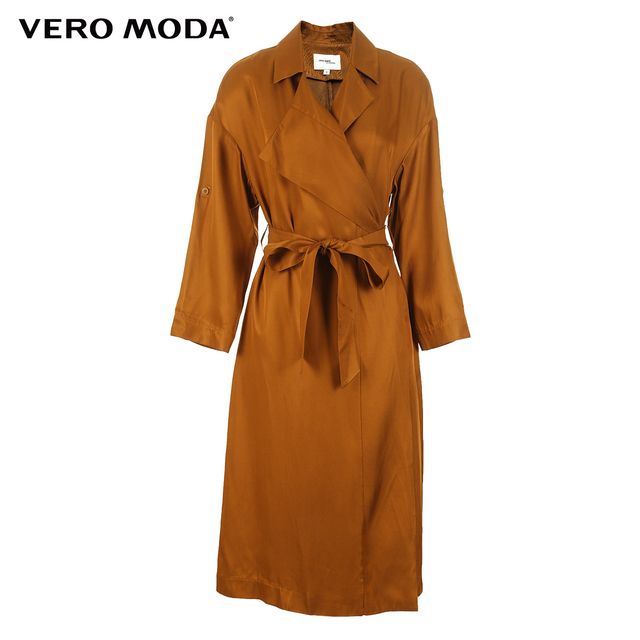 Vero Moda Two-way Sleeves Lapel Medium Length Wind Coat | 318121536