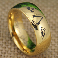 Free Shipping USA UK CANADA RUSSIA Brazil Hot Selling 8MM Shiny 18K Golden Dome Assassins Creed
