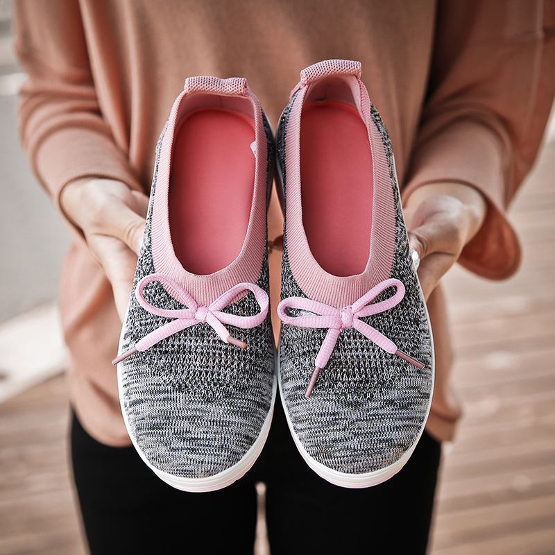 Sneakers 2019 New Women Flat Platform Shoes Woman Bowknot Loafers Women's Thick Bottom Casual Shoes Women Flats Plus Size 35-42 4