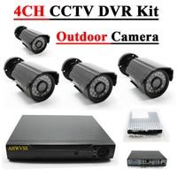 1080N HDMI DVR 1200TVL 720P HD Outdoor Home Security Camera System 4CH CCTV Video Surveillance DVR