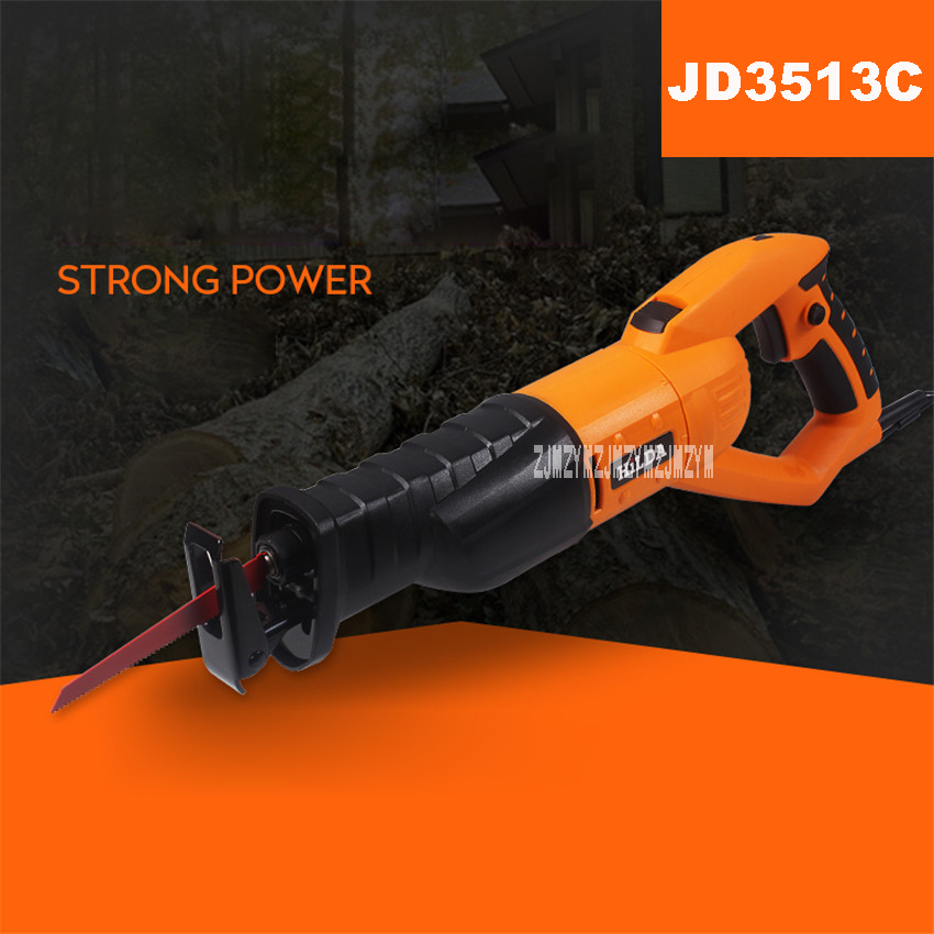 New Multi-functional Reciprocating Saw Metal Cutting Machine Household Adjustable Speed Woodworking Saws JD3513C 220v/50HZ 950W 96pcs 130mm scroll saw blade 12 lots jig cutting wood metal spiral teeth 1 8 12pcs lots 8 96pcs
