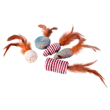 Cat Interactive Toys Set Bell Feather Cat Toys