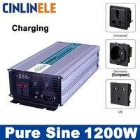 Smart Inverters Charging 1200W Pure Sine Wave Inverters CLP1200A DC 12V 24V 48V To AC 110V