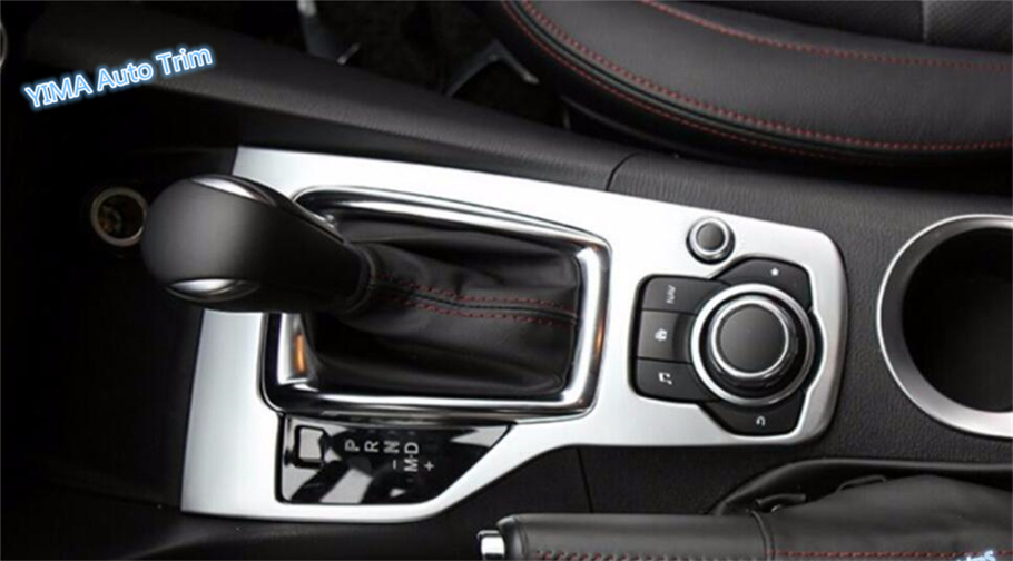 For Mazda 3 AXELA Hatchback Sedan 2014 2015 2016 ABS High Quality Transmission Shift Gear Panel Cover Garnish Trim 1 Piece for mazda 3 axela hatchback sedan 2014 2015 2016 abs high quality air conditioning ac control switch cd panel cover trim 1 pcs