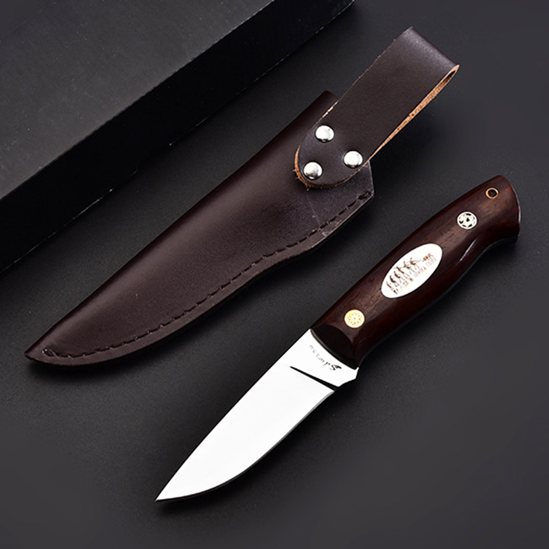 ToughKeng  Outdoor Adventure Survival Fixed Blade Knives 9cr18mov Steel Tactical Self-defence Knife Savage Tribe